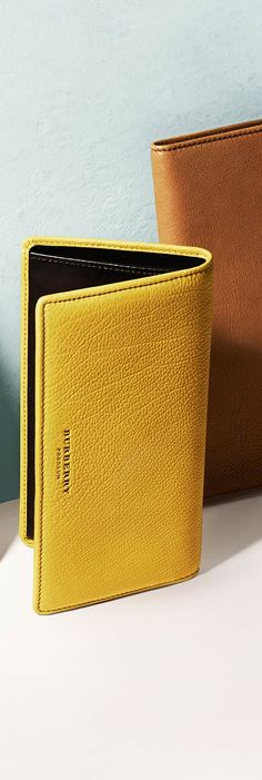 Men's Burberry leather wallets in pops of colour for Spring/Summer 2014