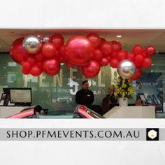 Sunrays Custom Balloon Column – PFM - Events & Catering Wedding Reception Decorations, Birthday Party Decorations, Party Themes, Birthday Parties, Custom Balloons, Latex Balloons, Balloon Columns, Balloon Garland, Welcome Photos