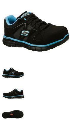 Occupational 53548: 76553 Bkbl Black Skechers Shoes Women Work Memory Foam Slip Resistant Alloy Toe -> BUY IT NOW ONLY: $59.99 on eBay!