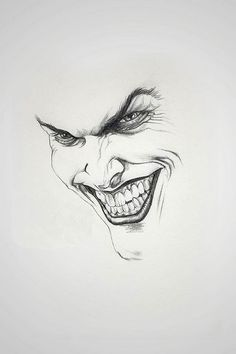 joker drawing More (Cool Art Stuff) Joker Drawings, Pencil Art Drawings, Art Drawings Sketches, Cool Drawings, Joker Sketch, Hipster Drawings, Art Illustrations, Comic Books Art, Comic Art