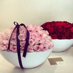 Custom rose arrangements at the CHD boutique