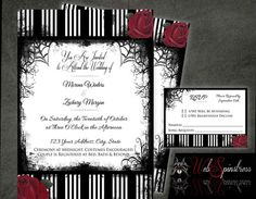 Love these beautiful gothic wedding save the date magnets 340