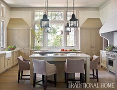 rough luxe lifestyle: A Study in Neutrals- Beth Webb in Traditional Home and Atlanta Homes and Lifestyles Traditional Interior, Traditional House, Lofts, Interior Design Kitchen, Modern Interior, Interior Ideas, Kitchen Designs, Trends 2016, Blonde Wood