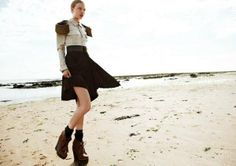 Seaside Military Fashion - The Grazia Germany October 2012 Editorial Stars Elsa Briesinger (GALLERY)