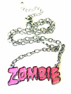 Pink Zombie Necklace | Gothic Clothing | Emo clothing | Alternative clothing | Punk clothing - Chaotic Clothing