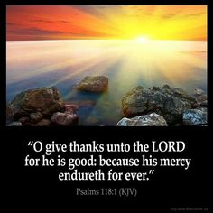 Psalm 118:1 KJV