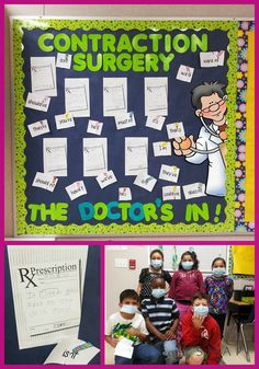 Captured Lesson: Contraction Surgery - The Doctor is in! Fun and engaging contractions lesson.  SIOP lesson plan to share. {Freebie}