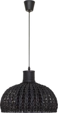 ZOE ratanový luster čierny 4624