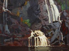 Image Detail for - Falls - Algoma Canyon by Lawren Harris Tom Thomson, Emily Carr, Group Of Seven Paintings, Beautiful Waterfalls, Canadian Artists, Art History, Amazing Art, The Outsiders, Artsy