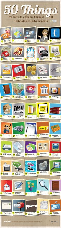 50-things we don't do anymore because of tech-advancements