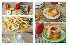 Aros de manzana fritos, tiene que estar buenísimo!!  Visto en https://www.facebook.com/ArqDesignRevista