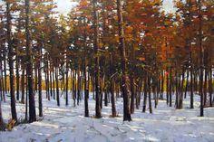 Min Ma; scene of autumn; acrylic on canvas 24x36