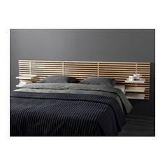 IKEA - MANDAL, Sängynpääty, , Sängynpääty, jossa on siirrettävät hyllyt, sopii enint. 160 cm leveisiin sänkyihin.Voidaan käyttää yhdessä vuodevaatelaatikollisen MANDAL-sängyn tai jalallisen patjakehikon kanssa.Kiinnitetään seinään, korkeuden voi valita itse.Kiinnitetään seinään, jolloin lattiatilaa vapautuu.Massiivipuuta, kestävää ja kaunista luonnonmateriaalia.