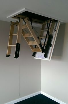 Skylark 3 Section Electric Timber Folding Loft Ladder # From £1995.00 + VAT                                                                                                                                                                                 More