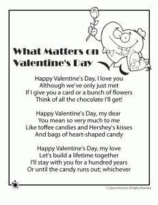 valentines day poems biology