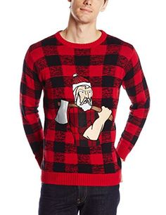 ac2bbfce9e Blizzard Bay Men s Lumberjack Santa Ugly Christmas Sweater