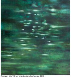 "Saatchi Art Artist: Aleksandra Batura; Oil 2012 Painting ""the river"""