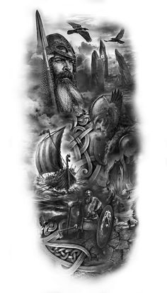 viking sleeve design- viking sleeve design We will assign your idea to the best artist for your desi Viking Tattoo Sleeve, Arm Sleeve Tattoos, Tattoo Sleeve Designs, Tattoo Designs Men, Norse Mythology Tattoo, Norse Tattoo, Celtic Tattoos, Design Tattoo, Viking Tattoo Design