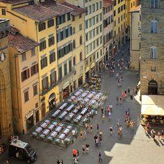 View from the Palazzo Vecchio on a part of the Piazza della Signoria