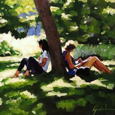 "Daily+Paintworks+-+""Spring+Break""+-+Original+Fine+Art+for+Sale+-+©+Karin+Jurick"