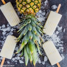Pina Colada Popsicles - Cold refreshing pops. Make popsicles at home with REAL coconut milk, pineapple, coconut flakes for a healthy summer snack.