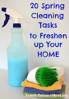 Family Balance Sheet: 20 Spring Cleaning Tasks to Freshen Your Home