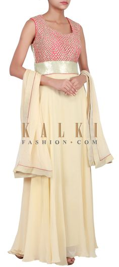 Buy Online from the link below. We ship worldwide (Free Shipping over US$100) http://www.kalkifashion.com/catalog/product/view/id/14820/s/beige-anarkali-suit-embellished-in-zari-embroidery-only-on-kalki/