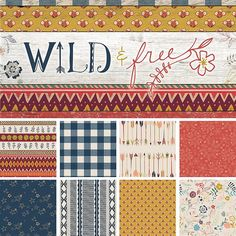 Wild & Free is a collection of eight quilting weight cottons, two knits, and one voile in prints inspired by my family, home, and lifelong love for Potter ...