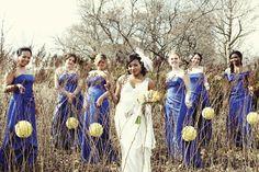Real {Minnesota} Wedding: Susan + Mark | Love the bridesmaid dresses | mnbride.com