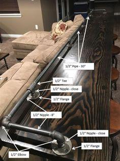65 Ideas home bar basement behind couch Sofa Bar, Pipe Furniture, Furniture Ideas, Couch Furniture, Furniture Vintage, Game Room Furniture, Furniture Design, Vintage Sofa, Furniture Styles