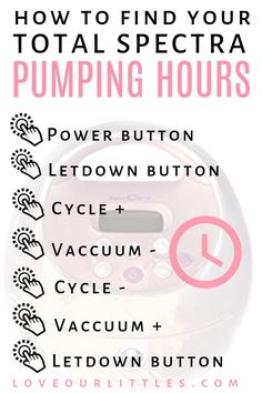 Breast Pump Tips Save this handy guide if you use a Spectra Pump to find your total pumping time. You'll probably be shocked once you do this! Pumping And Breastfeeding Schedule, Pumping Schedule, Newborn Schedule, Breastfeeding And Pumping, Increase Milk Supply, Exclusively Pumping, Spectrum, Finding Yourself, Pumps