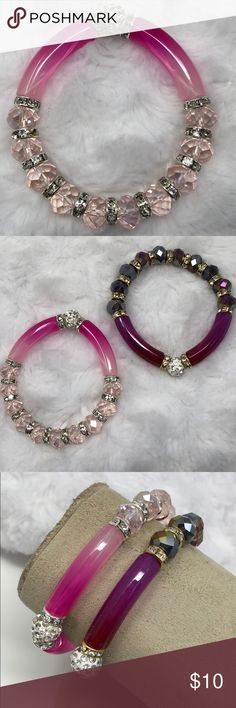 New| 2/ten PINK MIX BLING BRACELET Very pretty for your many looks. Elastic. 51Twenty Jewelry Bracelets