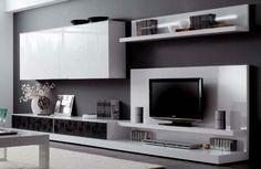 meuble TV à motifs
