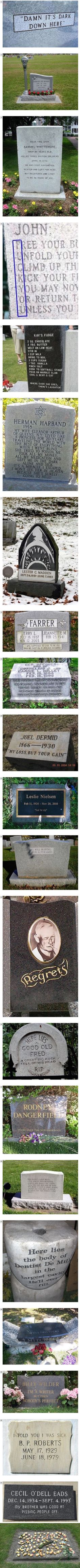 These 21 gravestones that definitely got the last laugh