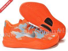 Nike Zoom Kobe 8 Orange Metallic Silver For Sale
