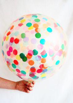 Large Confetti Balloon, Huge Jumbo Size 90cm party decoration