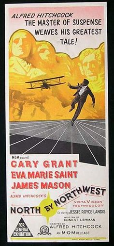 """North By Northwest"" (1959) Gary Grant, Eva Marie Saint, James Mason"