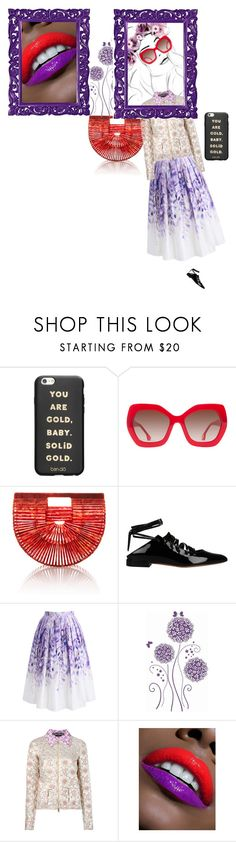 """💋🌸🌸🌸🌸🌸💋"" by lolla-cher ❤ liked on Polyvore featuring ban.do, Alice + Olivia, Cult Gaia, Givenchy, Chicwish, Rochas, Howard Elliott, purple and red"