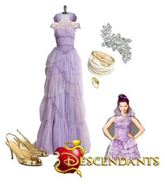 """""""descendants mal"""" by maria-calinaa on Polyvore featuring Lilly Pulitzer, Zuhair Murad, Kate Spade, ZooShoo, Bling Jewelry and NOVICA"""