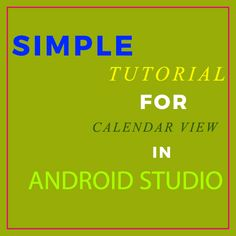 In Android, Calendar View widget was added in API level version which means this view is only supported in the device that are running on Android and higher version. It is used for displaying and selecting dates. Android Studio, Android Developer, Dates, Running, Keep Running, Date, Why I Run