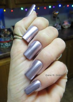 Diane Graham's custom-fit nails look great with this metallic pink polish! Follow her at http://pinterest.com/simmi5/ to see all her fab nail art, and get your own set of beautiful and everlasting custom-fit nails at http://www.customnailsolutions.com/.