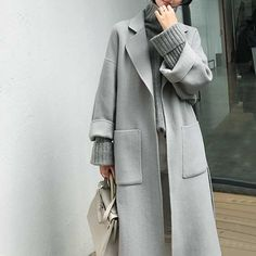 Best Casual Work Outfits Part 2 Muslim Fashion, Modest Fashion, Hijab Fashion, Korean Fashion, Casual Work Outfits, Work Casual, Chic Outfits, Winter Coats Women, Coats For Women