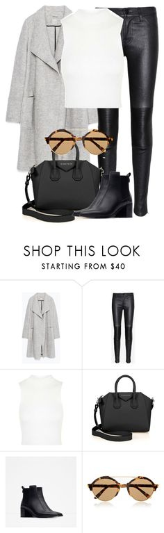 """""""Untitled #2122"""" by rosyfilm on Polyvore featuring Zara, J Brand, Topshop, Givenchy and Illesteva"""