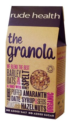 Rude Health The Granola. Pinned as beautiful packaging
