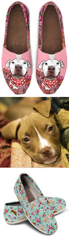 Do you love Pit Bulls? Check out our amazing Pit Bull Shoes, Bags, Socks and more!