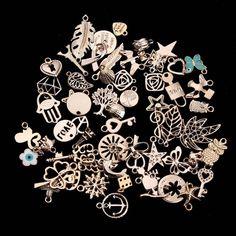 50pcs/lot Mixed KC Gold European Bracelets Charm Pendants Fashion Jewelry Making Findings DIY Charms Handmade by joliecraftstore on Etsy