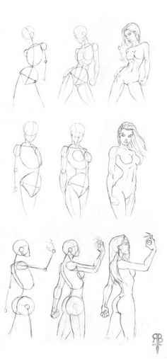 female body shapes - how to draw a Woman - Anatomy - drawing Reference Drawing Lessons, Drawing Poses, Drawing Techniques, Life Drawing, Nail Drawing, Drawing Art, Drawing Tips, Drawing Ideas, Art Drawings
