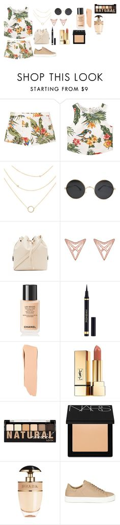 """""""Pretty for going out with you friends"""" by dianamarierg ❤ liked on Polyvore featuring MANGO, Forever 21, Dutch Basics, Chanel, Yves Saint Laurent, NYX, NARS Cosmetics, Prada and Axel Arigato"""