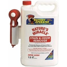 United Pet Group Nature's Miracle Stain and Odor Remover with Sprayer, 1.5-Gal