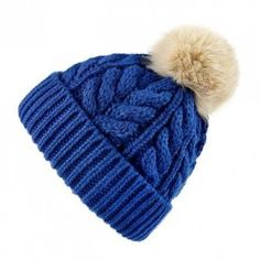 Dune Bobble Hat with fur bobble.  Two colour choices.  A favourite every year